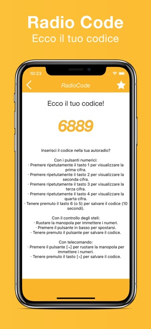 Codice autoradio Renault su App Store