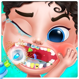 Crazy Dentist Clean Teeth Game