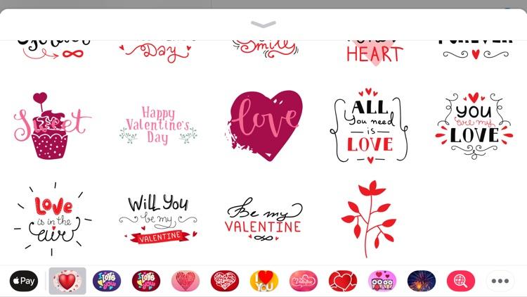 Valentine's Days Love Sticker screenshot-4