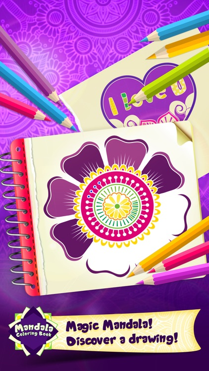 Mandala Draw Coloring Book screenshot-3