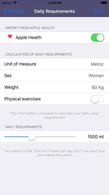 Drink Water - Daily reminder screenshot-8