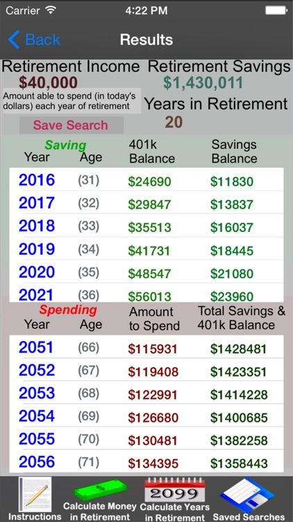 Easy Retirement Calculator screenshot-1