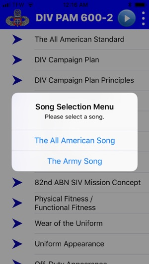 82 Airborne Division Pam 600-2 on the App Store