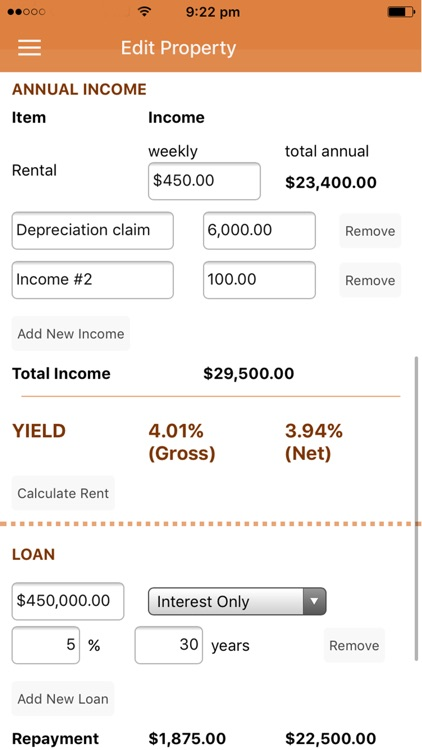 Property Yield Calculator