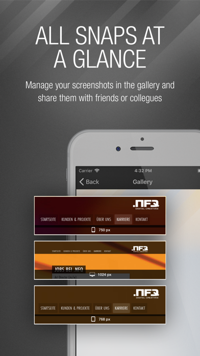 webSnap - Screenshots for Devs screenshot three