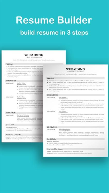 Resume CV Builder by Xixi Li