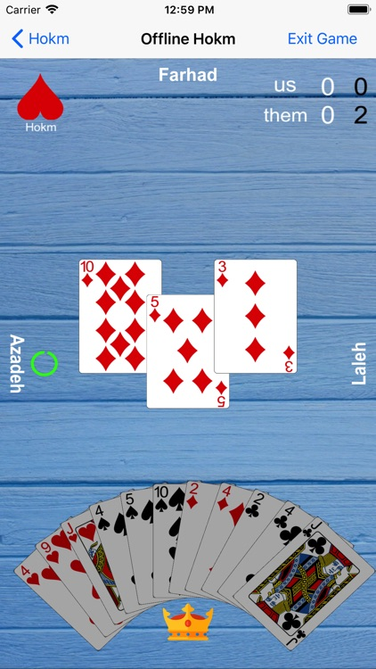 hokm card game version 1.2