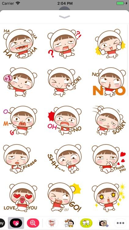Little Cute Girl Sticker