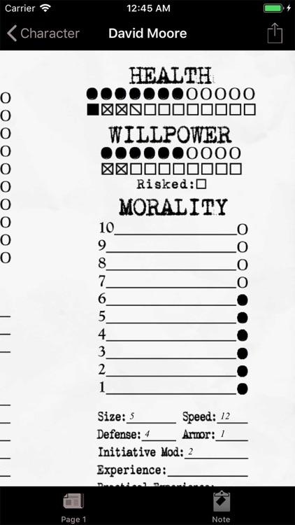 Real Sheet: NWOD Hunter ∞ screenshot-4
