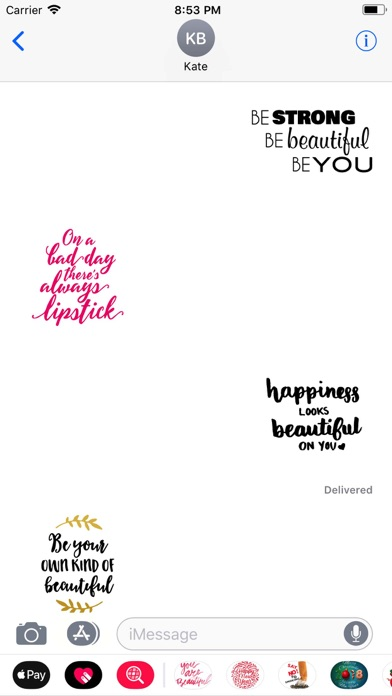 Screenshot for Beauty Love Quote Sticker Pack in Australia App Store