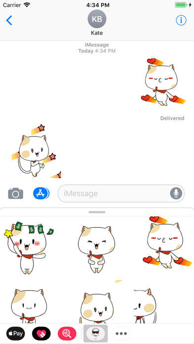 Cool Cat Animated Stickers screenshot three