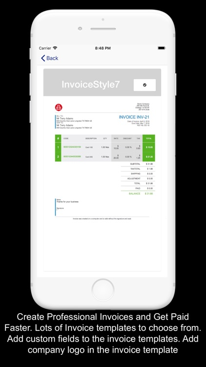 Kite Books Invoice Inventory