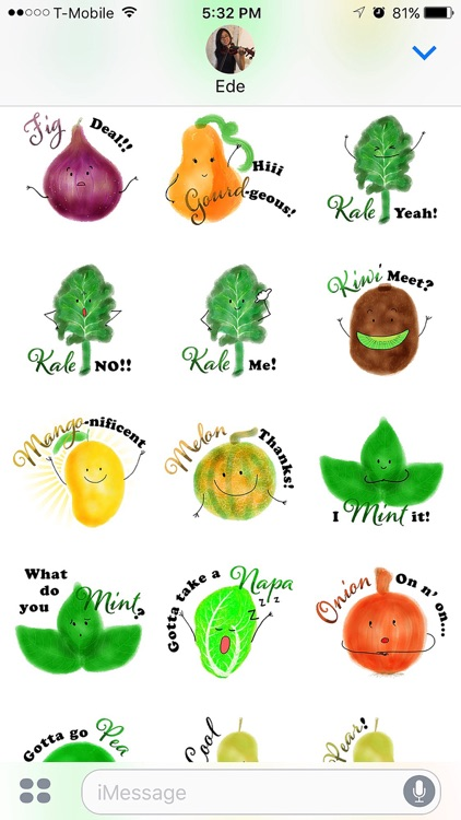 Punny Produce Stickers