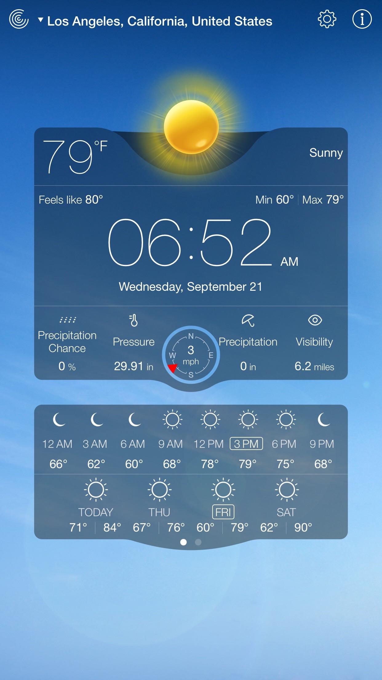 Weather Live. Screenshot