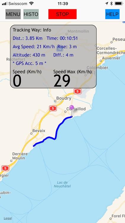 GPS tracker, speed, compass