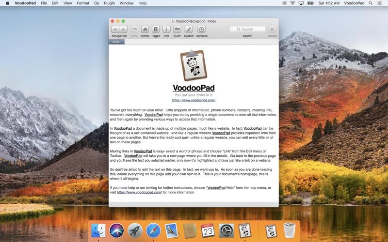 VoodooPad 5 Screenshots