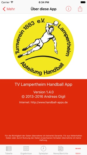 Tv Lampertheim Handball Im App Store