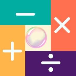 calculets: Math number bubbles