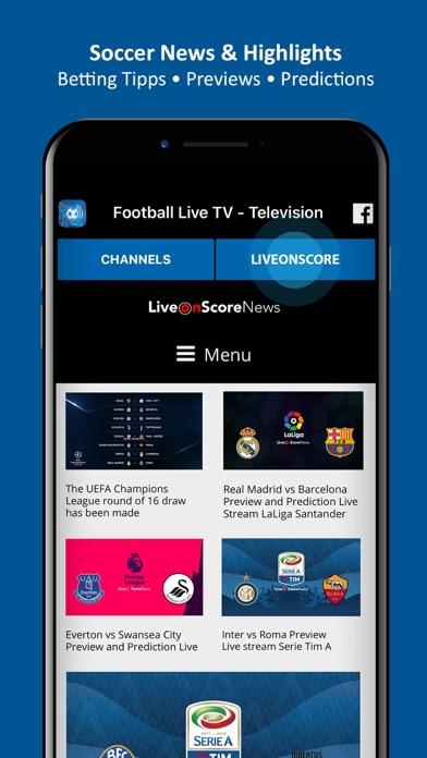 Football Live TV - Soccer TV Screenshots