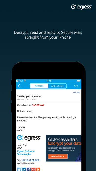Egress Secure Mail screenshot four
