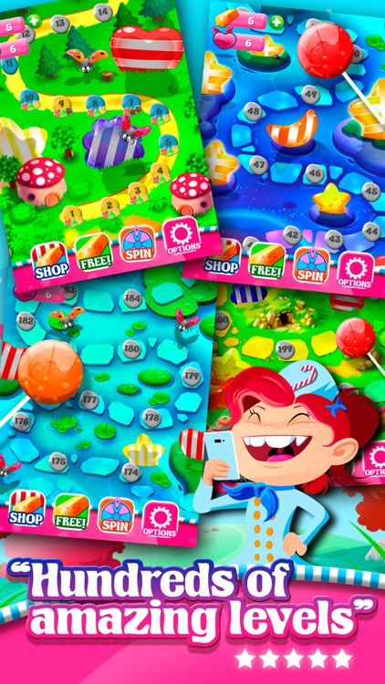 Match 3 Sweet Lolly Candies HD