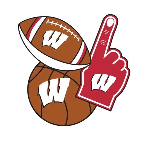 Wisconsin Badgers Selfie Stickers