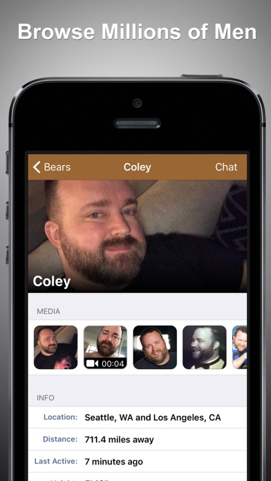 GROWLr: Gay Bear Social Media Screenshot