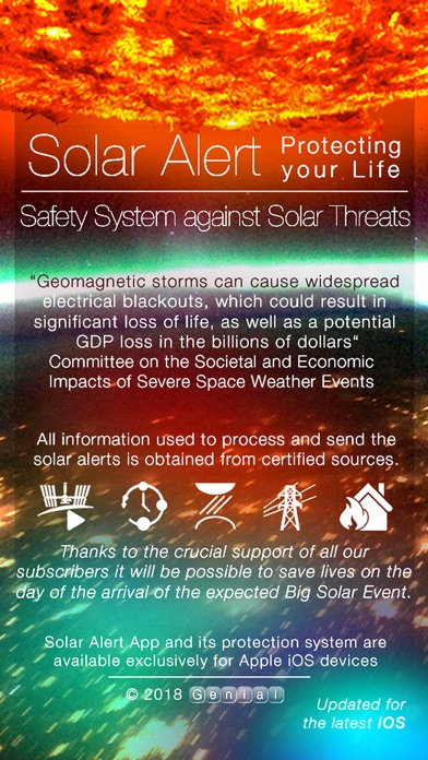 Solar Alert: Protect your Life Screenshot