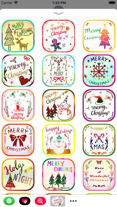 Christmas Card Stickers Pack screenshot two