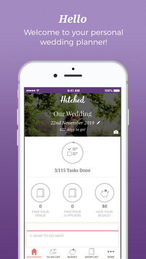 Wedding Planner App.Hitched Wedding Planner On The App Store