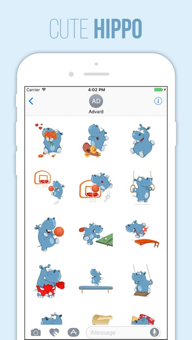 download Cute Hippo Stickers apps 0