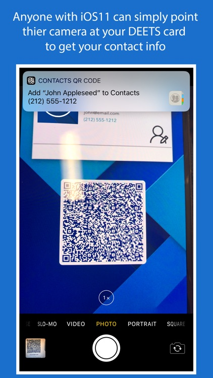 DEETS: QR Code Contact Card by Mindful Bear Apps