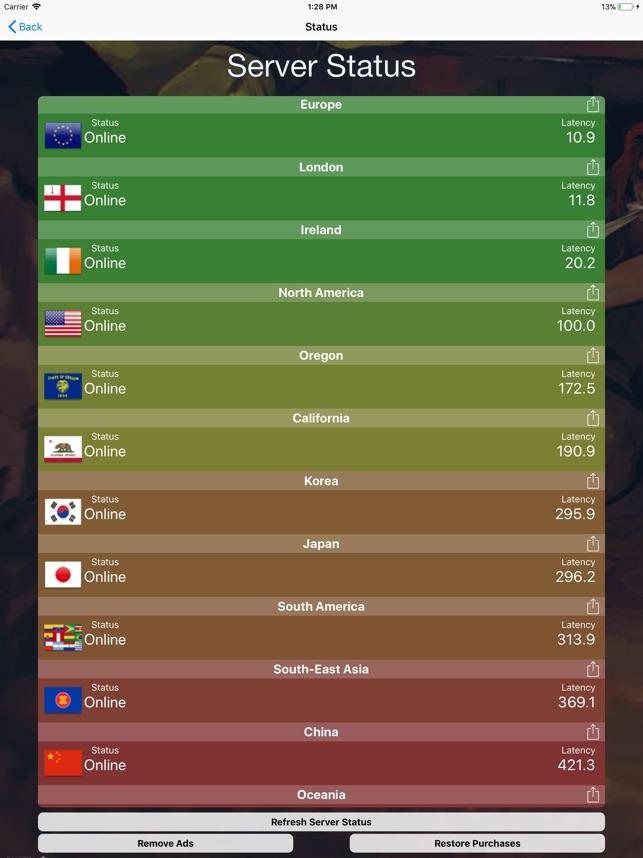 Server Status for PUBG Mobile on the App Store
