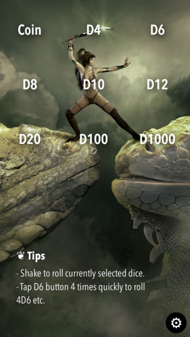 RPG Dice Roller Lite screenshot one