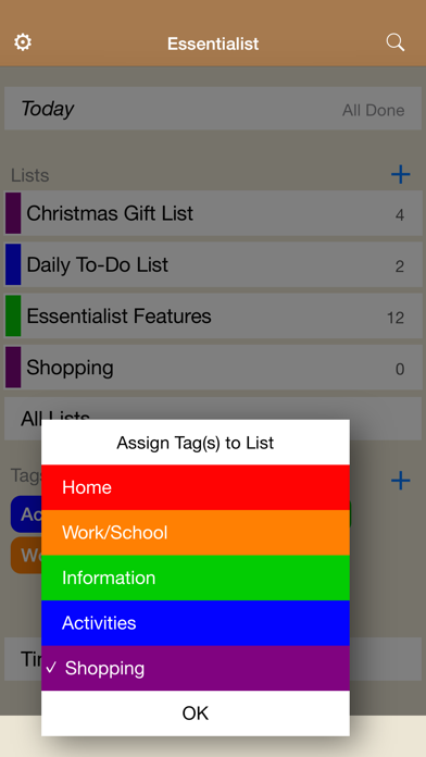 Essentialist - Checklist screenshot three