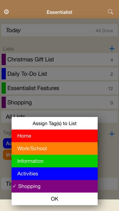Essentialist - Checklist screenshot three