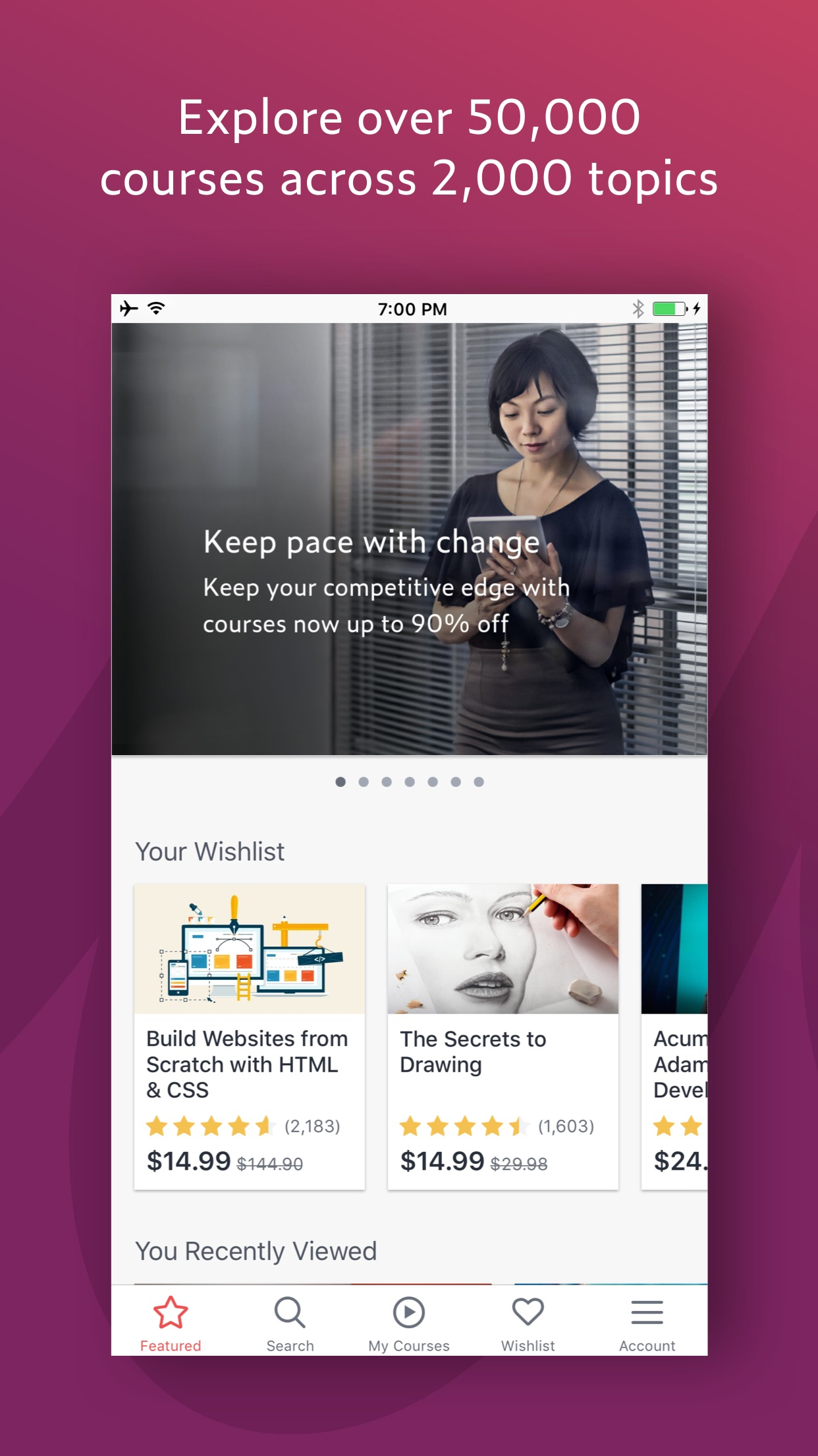 Udemy Online Courses Screenshot