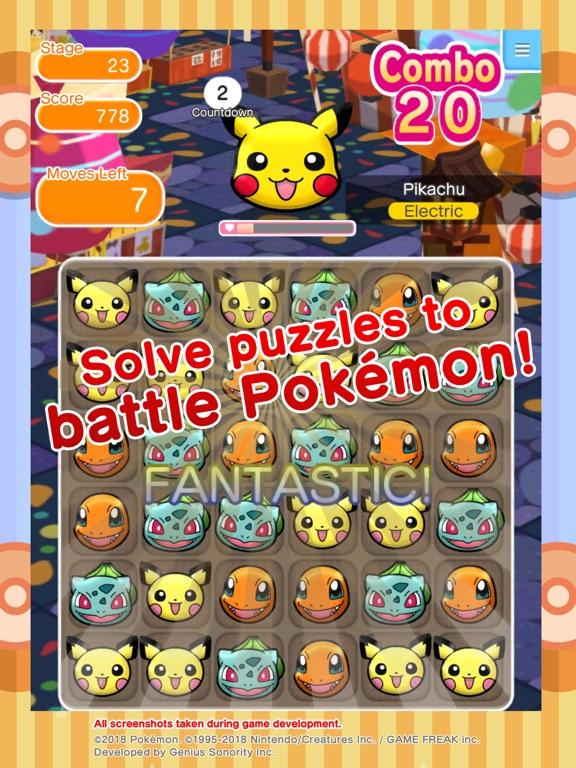 Pokémon Shuffle Mobile iPad app afbeelding 2