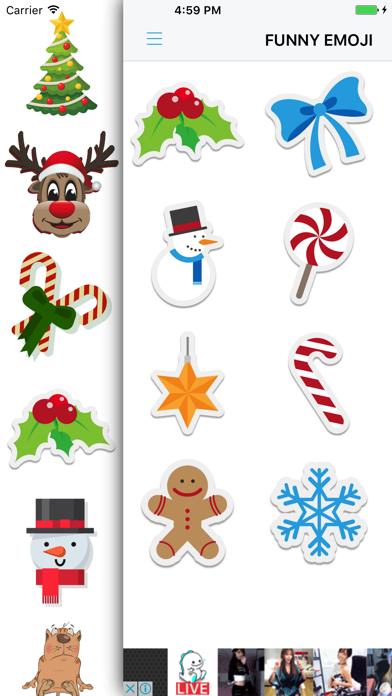 Xmas Emoji - Santa Sticker screenshot two
