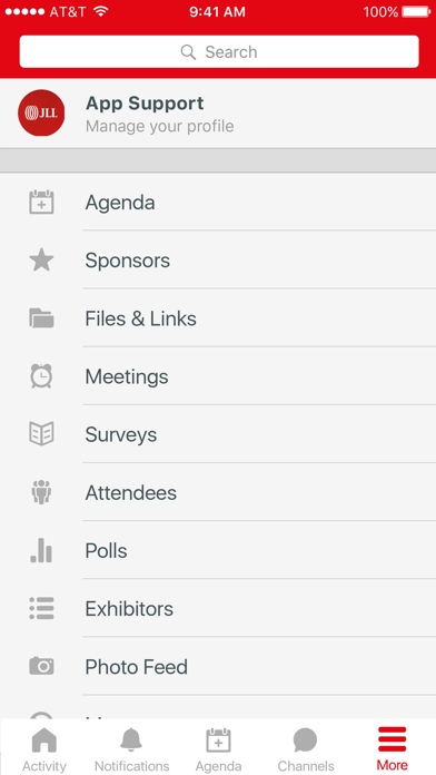 JLL Client Events screenshot 2