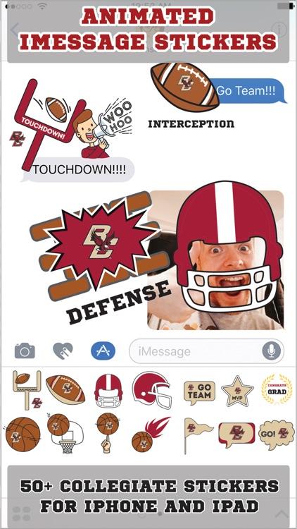 Boston College Eagles Animated+Stickers - iMessage