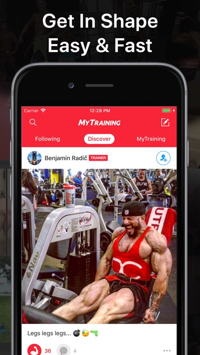 MyTraining - Reach My Fitness Body Goal with Gym Training Personal Tracker and Exercising Workout Planner screenshot