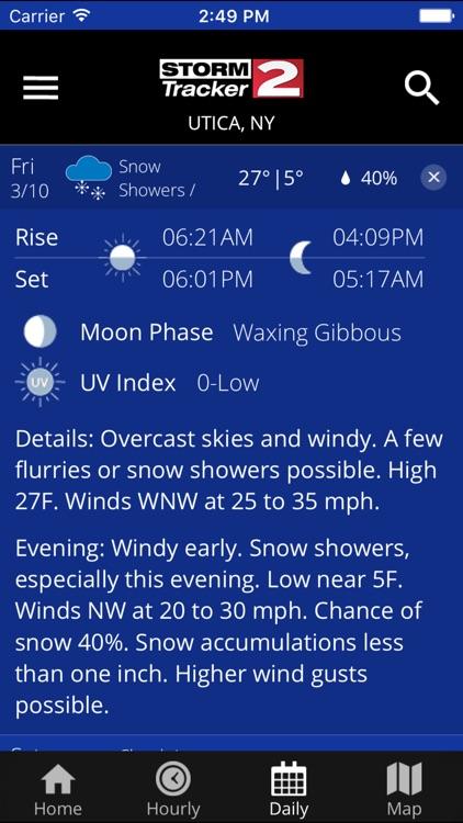 WKTV - StormTracker 2 Weather screenshot-3