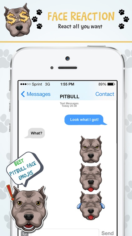 PitbullMoji - Pit Bull Emojis screenshot-3