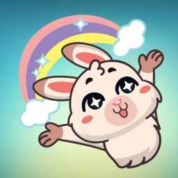 Fluffy Bunny! Stickers