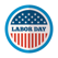 Labor Day - USA stickers