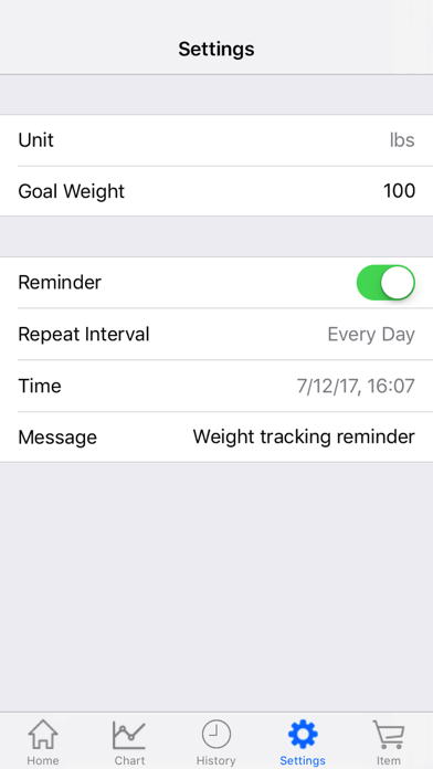Body Weight Loss Tracker With Record Chart And Log screenshot 3
