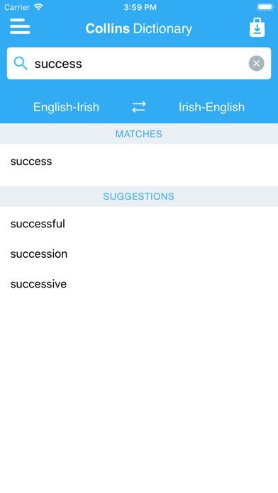 Collins Irish Dictionary Скриншоты7