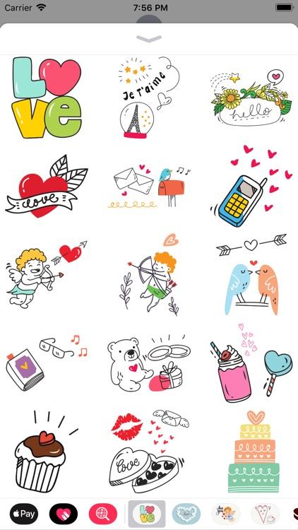 Doodle Valentine's Day Sticker screenshot-3
