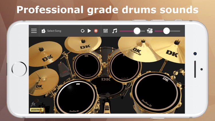 DrumKnee Drums 3D - Drum pad screenshot-3